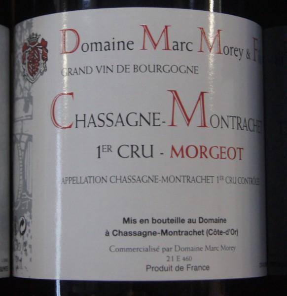 Marc Morey Chassagne-Montrachet 1er cru Morgeot 2017 Pinot noir