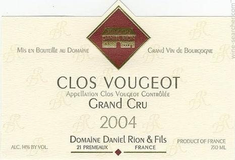 Daniel Rion Clos de Vougeot Grand Cru 2017
