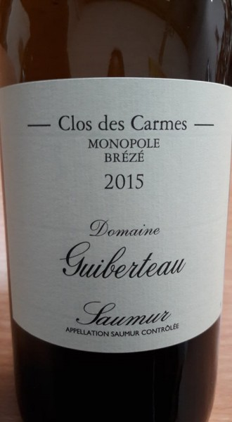 Saumur Blanc 2015 Clos des Carmes Monopole