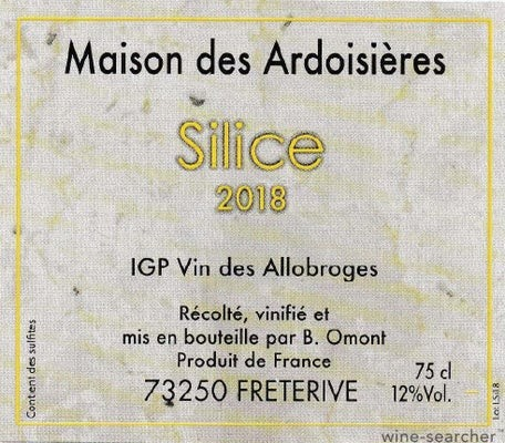 Cuvee Silice Blanc 2020 Domaine des Ardoisieres Allobrogie IGP