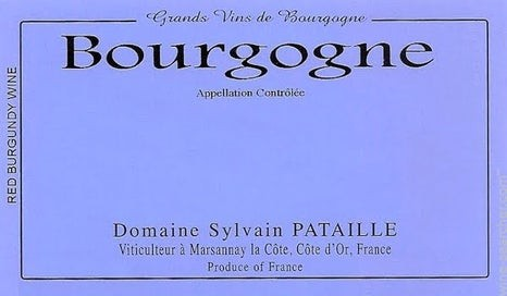 Bourgogne Rouge 2018, Domaine Sylvain Pataille