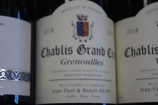 Chablis 2018 Grenouilles Grand Cru