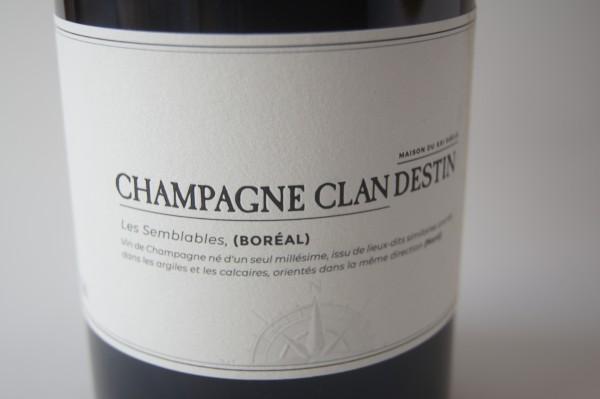 Champagne Clandestin Les Semblables Boreal Brut Nature