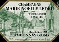 Cuvee du Goulte Blanc de Noirs Grand Cru 2014 Marie-Noelle Ledru