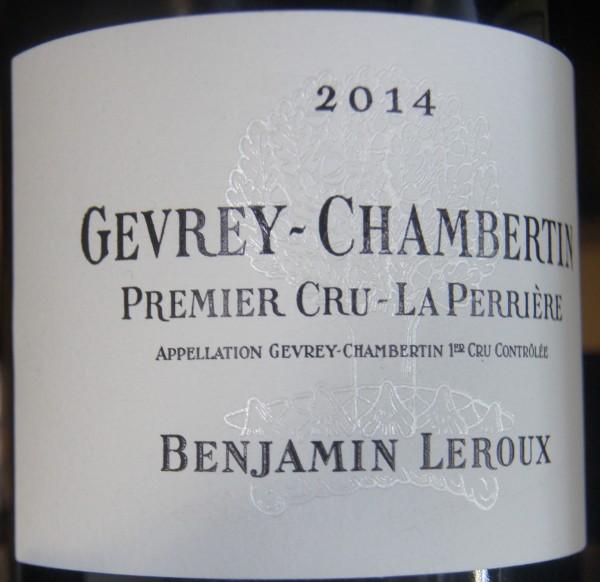 Gevrey-Chambertin 1er Cru Les Perrieres 2014 Benjamin Leroux