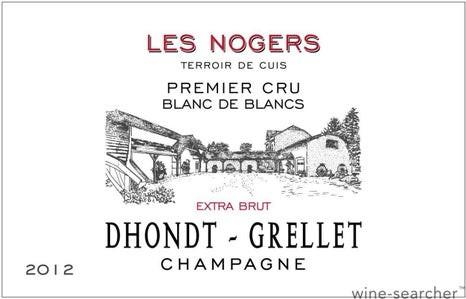 Champagne 1er Cru Blanc de Blancs Extra-Brut Les Nogers Dhondt-Grellet