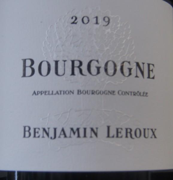Bourgogne Blanc 2018 Benjamin Leroux Chardonnay