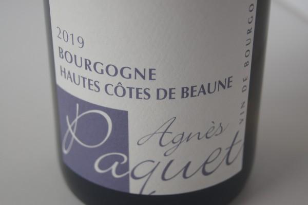 Agnes Paquet Bourgogne Hautes Cotes Beaune Blanc 2019