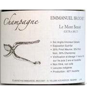 Champagne Le Mont Benoit Extra Brut AC, Emmanuel Brochet