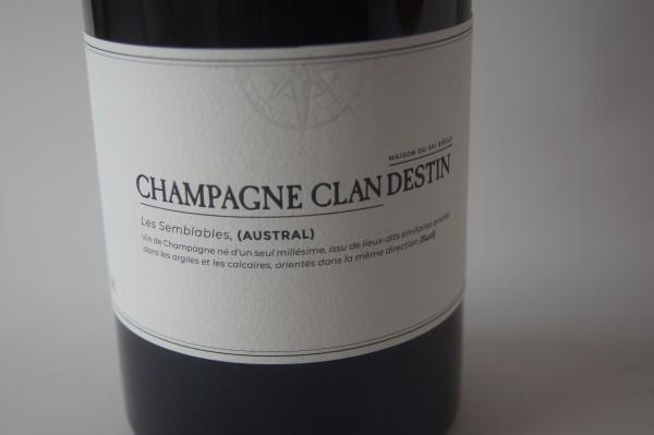 Champagne Clandestin Les Semblables Austral Brut Nature