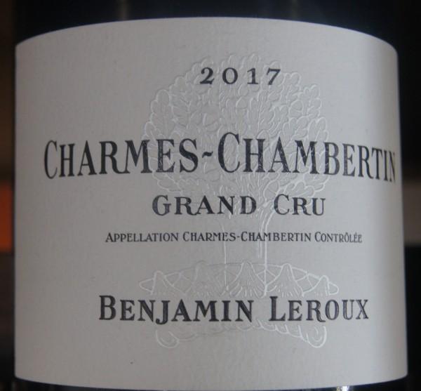 Benjamin Leroux Charmes Chambertin 2017 GC Pinot Noir