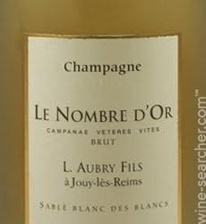 Champagne Aubry Le Nombre d'Or Sable Blanc des Blancs,