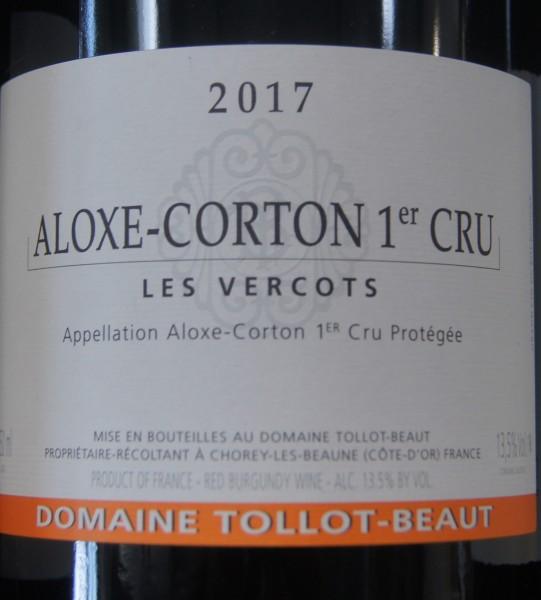 Aloxe-Corton 1er Cru Vercots 2017