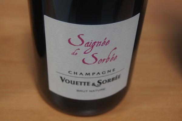 Champagne Saignée de Sorbée Extra Brut Flaschengärung