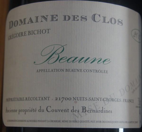 Beaune 2015 Gregorie Bichot