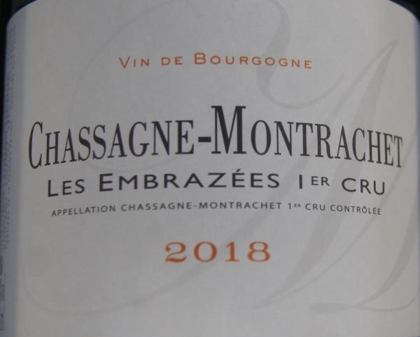 Chassagne-Montrachet 1er Cru Les Embrazees Blanc 2018 Vincent et Sophie Morey