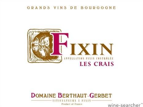 Fixin Les Crais 2019 Pinot Noir Berthaut-Gerbet