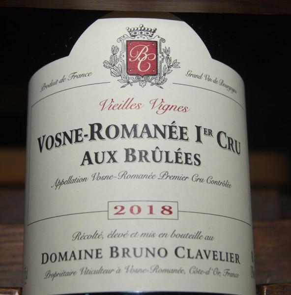 Bruno Clavelier Vosne-Romanee La Combe Brulee Vieilles Vignes 1er Cru 2018
