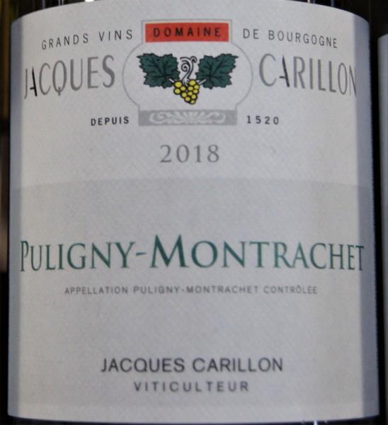 Jacques Carillon : Puligny-Montrachet Village 2018, Blanc