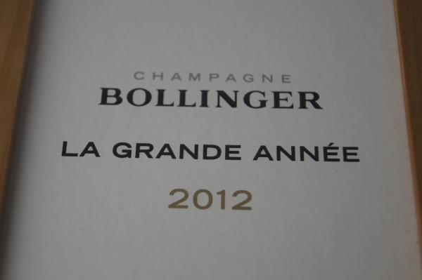 2012 Bollinger La Grande Annee, Bollinger