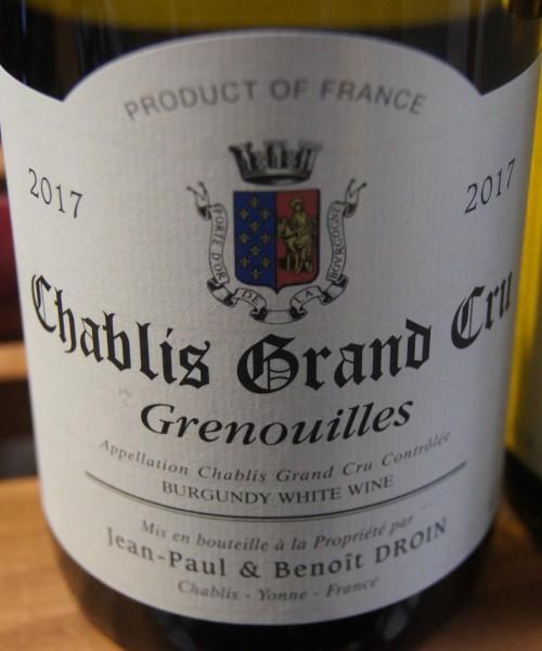 Chablis 2017 Grenouilles Grand Cru