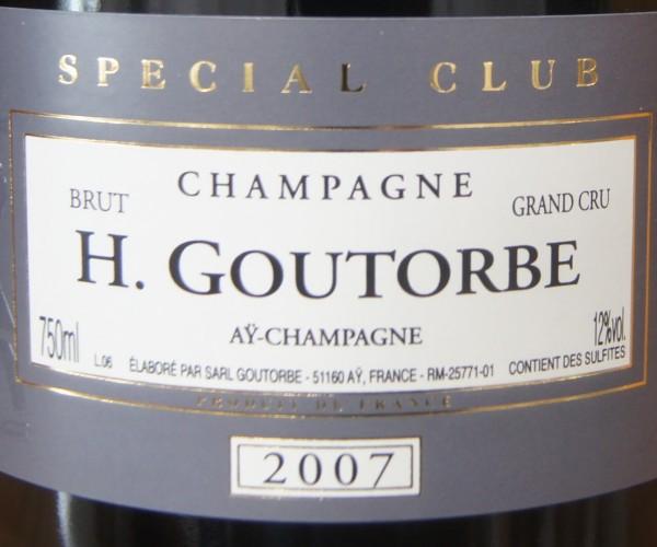 Champagne Grand Cru Brut Special Club 2007 Henri Goutorbe