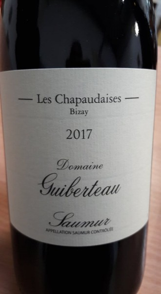 Saumur Rouge 2017 Les Chapaudaise