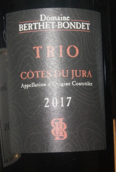 Cotes du Jura Trio 2017