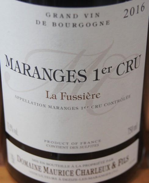 Maranges 2019 La fussiere Rouge
