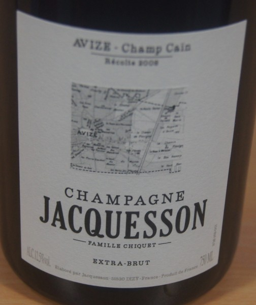 Champagne Brut Avize Champ Cain Millesime Grand Cru Flaschengärung 2008