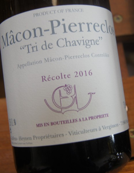 Mâcon-Pierreclos Tri de Chavigne 2016
