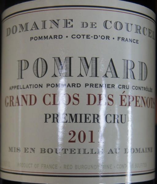 POMMARD 1er Cru Grand Clos des Epenots 2011 Domaine de Courcel