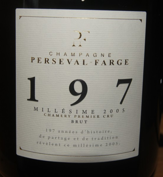 Perseval-Farge 197 Millésime 2005 Brut