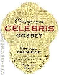 Champange 2007 Celebris Extra Brut Gosset,