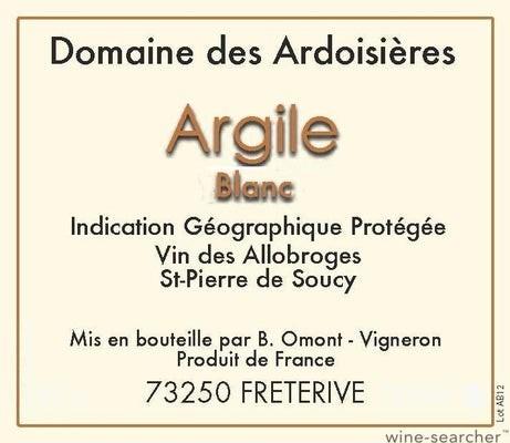 IGP Vin des Allobroges -Saint-Pierre-de-Soucy Argile 2020 Domaine des Ardoisieres