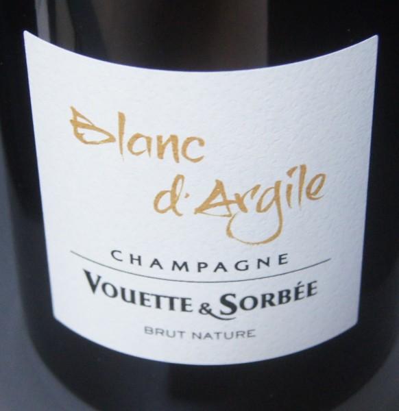 """Vouette & Sorbee """"Blanc d'Argiles"""", brut nature"""