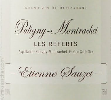 2016 Puligny-Montrachet Premier Cru Les Referts, Etienne Sauzet