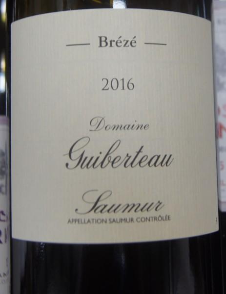 Saumur Brézé 2017 Guiberteau
