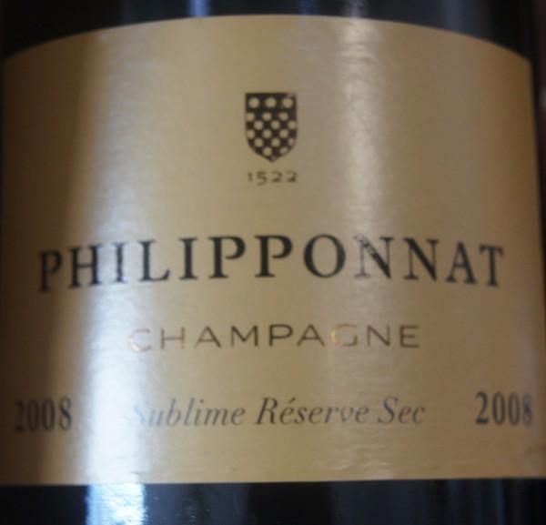 Champagne Philipponat Sublime Réserve sec 2008