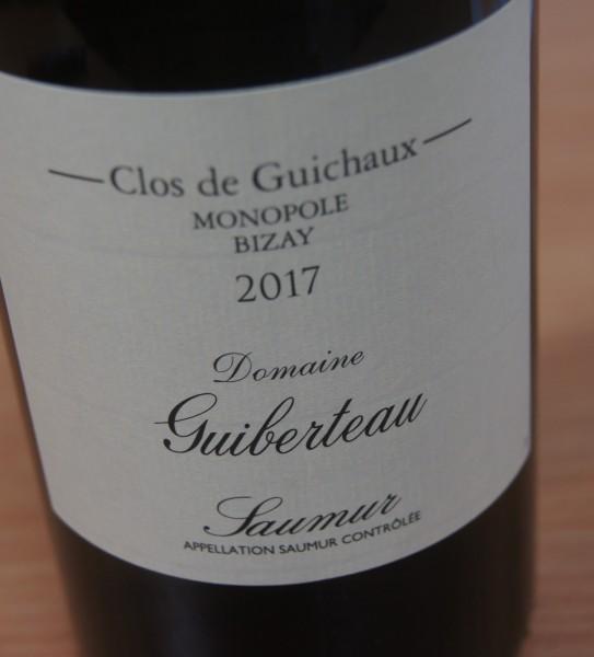 Saumur Clos de Guichaux Monopol Bizay 2017