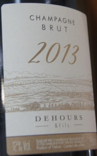Champagner Millisimé 2013 Brut Dehours