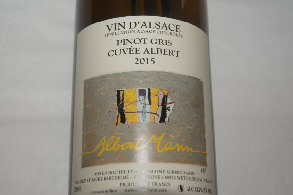 Pinot Gris Cuvée Albert 2015