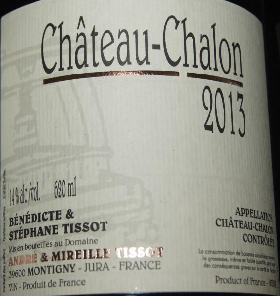 Domaine Tissot Chateau-Chalon 2013, Jura