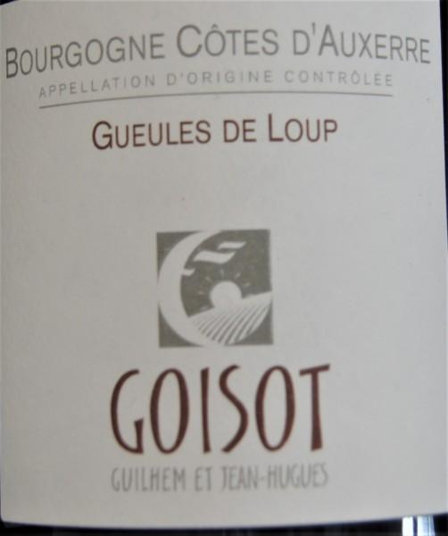 Bourgogne Côtes d'Auxerre Gueules de Loup 2018 Domaine G. et J.-H. Goisot