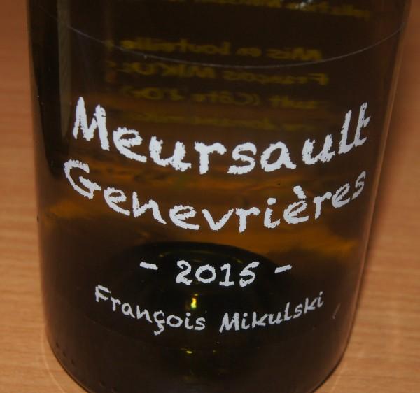 Meursault 1er Cru Les Genevrieres 2015
