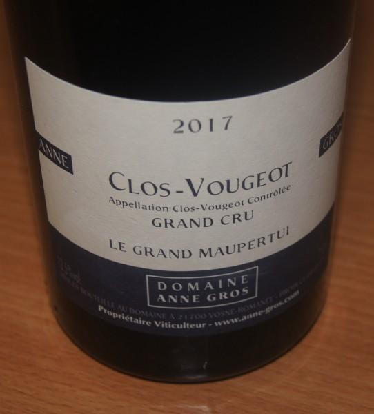 Clos de Vougeot Grand Cru Le Grand Maupertui 2017