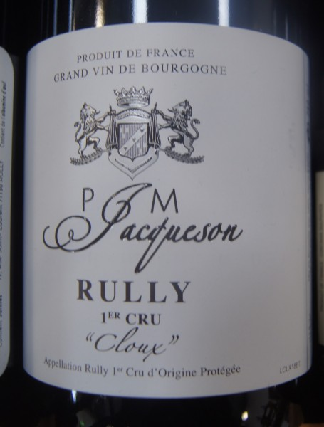 Rully Rouge Les Chaponnieres 2019, Jacqueson; Paul & Henry