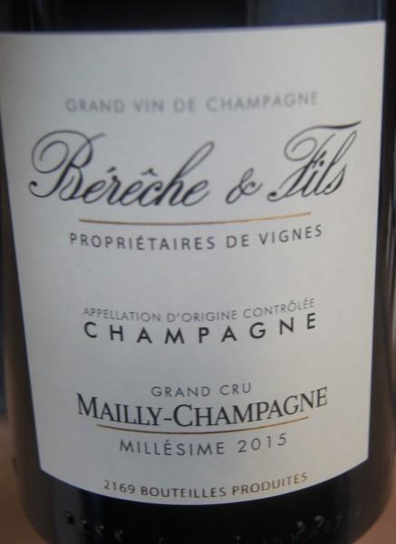 Mailly 2015 -Champagne Grand Cru Bereche et Fils