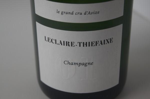 Champagne Leclaire-Thiefaine Cuvee 01 Grand Cru d'Avize