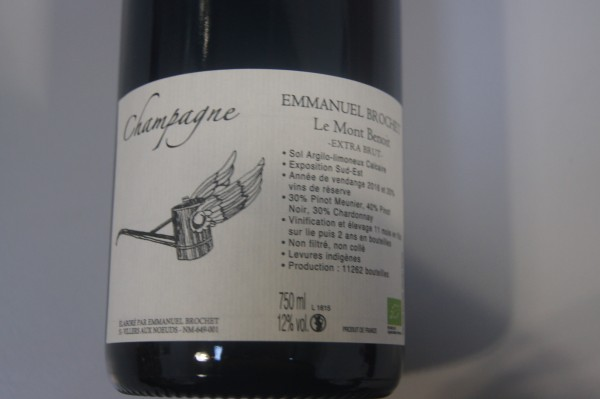 Champagner Le Mont Benoît' L15 Extra Brut